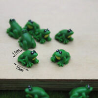 2PCS Dollhouse miniature game scene model accessories mini frog Yw