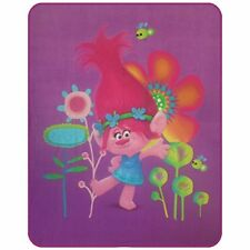 Cti 043696 Trolls Poppy Plaid Polaire Polyester Rose 110 x 140 cm