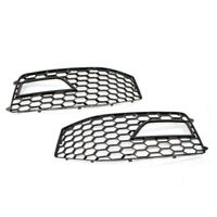 Front Fog Light Grille Grill Honeycomb For 13-15 Audi A4 B8.5 RS4 S-Line Bumper