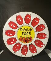 "Ceramic 12 Egg Deviled Egg Plate design by Lorrie Veasey ""Our Name Is Mud """