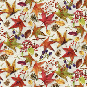 Fat Quarter Studio e's Harvest Whisper Fall Leaves 100% Cotton Fabric