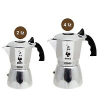 2pz BIALETTI BRIKKA Moka Caffettiera 2 tazze + 4 tazze NUOVA casa caffè cremoso