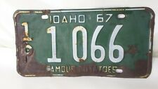 1967 Idaho License Plate Vintage 1P Payette County