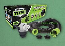 Thetford Titan | 17853 | RV Toilet Premium Black Water Sewer Hose Kit 15 Foot