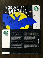 """Canada Series Starbucks """"HAPPY HALLOWEEN 2019"""" Gift Card WITH BLACK MAG STRIPE"""