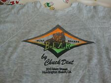 Vintage CHUCK DENT Bear Surf Boards HUNTINGTON BEACH surfboard Cali Sweatshirt M