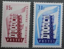 1956 FRANCE Y & T N° 1076 et 1077  Neufs *  AVEC CHARNIERE