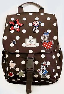 Cath Kidston x Disney Mickey Mouse Buckle Backpack Minnie Mouse Patches Rucksack