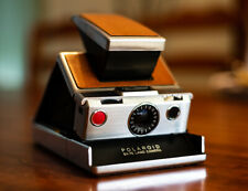 Vintage POLAROID SX-70 Land Camera Brown Leather - Untested