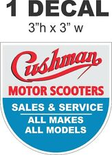 Cushman Motor Scooter Truckster Sales and Service Diorama Vinyl Decal