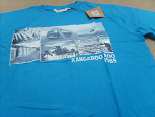 "Kangaroo Poo Men's Postcard Photo 100% Cotton T-Shirt, Size: S  (Chest 36-38"")"