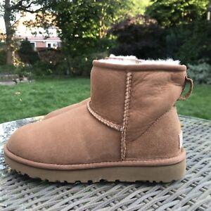 UGG Mini Chestnut Boots Uk Size 6