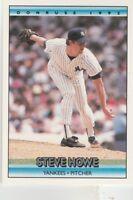 FREE SHIPPING-MINT-1992 Donruss #106 Steve Howe New York Yankees Baseball Card