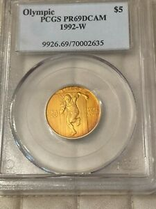 1992-W $5 Olympic Gold Coin PCGS PR69 DCAM