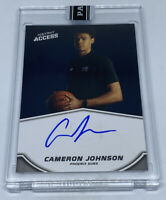 CAMERON JOHNSON 2019-20 Panini Instant Blue Ink On Card Auto Autograph #9/25 RC