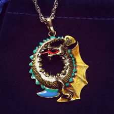 Fashion Jewelry Dragon Moon New Costume Pendant Sweater Long Chain For Necklace