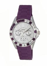 Esprit Dolce Vita Purple Watch Day Date DIals UK Seller Warranty ES102392015