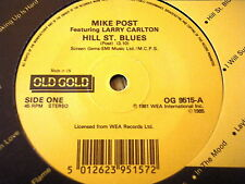 "MIKE POST - HILL STREET BLUES / THE ROCKFORD FILES   7"" OLD GOLD VINYL"