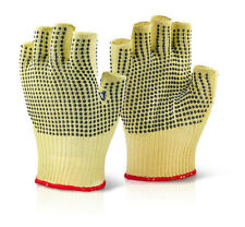 B Click KUTSTOP Kevlar Gloves Cut 3 Resistant Latex Polka Dot Fingerless 9/L