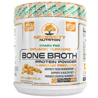 Bone Broth Protein Powder Organic Turmeric Curcumin Paleo Keto Beef Collagen