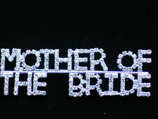 SILVER CLEAR RHINESTONE PARTY WEDDING MOTHER OF THE BRIDE PIN BROOCH JEWELRY 3""