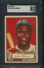 1952 Topps Jackie Robinson Brooklyn Dodgers HOF #312 SGC 8 NM-Mt CENTERED!!