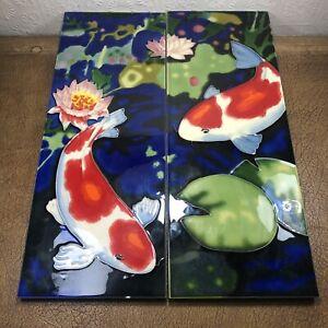 2x Koi Fish Wall Tiles