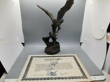"Michael Boyett ""The Freedom of Eagles"" 4340/9500 Pewter Excellent Condition"
