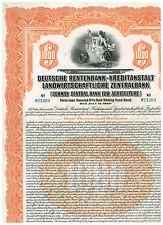 Deutsche Rentenbank-Kreditanstalt...1927, 1000$ Gold Bond, orange
