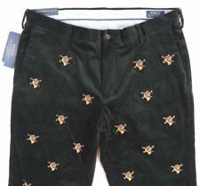 Men Polo Ralph Lauren Classic Embroidery Fox Horn Corduroy Hunting Pants 34 32