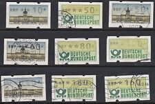 Germany - Vending Machine Stamps - Set of 9  -  used/cancelled - B7449