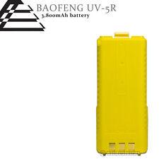 Yellow BAOFENG Pofung BL-5L 3800mAh 7.4V Extended Li-Ion Battery for UV-5R Radio