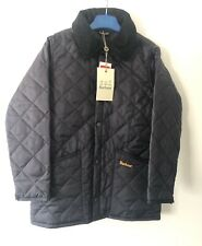 Barbour Kids Liddesdale Jacket Navy BNWT Size Small Age 6-7