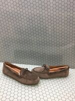 NIB Vionic HONOR VIRGINIA Greige Suede Slip On Moccasin Loafers Women's Size 11