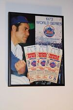 1973 WORLD SERIES GAMES 3-4-5 TICKET STUBS METS VS A's plus SERIES PROGRAM COVER