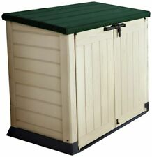 Keter Store-It Out Max Outdoor Plastic Garden Storage Shed - Beige/Green