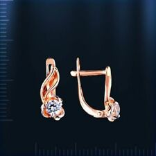 Kinder-Ohrringe Zirkonia Rose Rotgold 585  mit CZ kleine Geschenk Kids earrings!