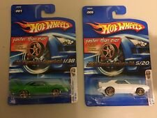 2005 Hot Wheels Realistix First Editions '69 Pontiac Firebird T/A & 70 Superbird