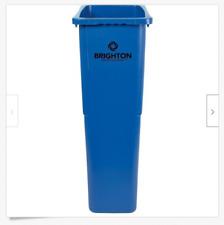 Brighton Slim 23 Gallon Wastebasket, Blue *New* WH-Boc