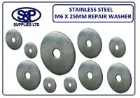 M6 X 25MM  /  6MM X 25MM A2 STAINLESS STEEL REPAIR PENNY WASHER 1.5MM THICK