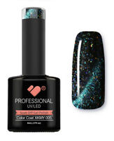 XKMY-005 VB™ Line Starry Cat Eye Black Green - UV/LED soak off gel nail polish