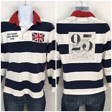 Polo Ralph Lauren Great Britain XIV Games 1934 Rugby Polo Shirt Union Jack S #23