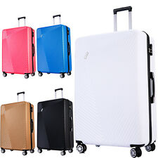"32"" Extra Large 4 Wheel Lightweight Suitcase Hard Shell Luggage Big ABS Travel"