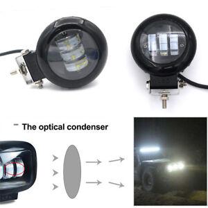 72W 6000K White LED Car Spot Light Work Lamp Waterproof 10800LM Spot &flood beam