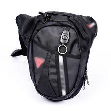 Black Fanny Waist Leg Bag Hip Drop Belt Bum Thigh Motorcycle Race Pack Purse
