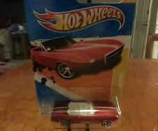 HOT WHEELS 1963 FORD MUSTANG II~ HTF~ CONVERTIBLE~ CONCEPT~ RED~ MOC NICE