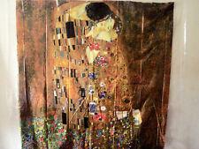 "Klimt The Kiss Shower Curtain Bridgeman Art Library Ny 72""x72"" Clear Vinyl"