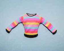 PASTEL Pink Purple Yellow Blue Stripes Stylish Genuine BARBIE Long Sleeve Shirt
