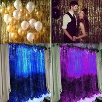 Foil Fringe Door Curtains Party  Birthday Wedding Photo Booth Props Backdrop UK