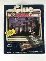 Clue VCR Mystery Game - Vintage - Parker Brothers 1985 COMPLETE  (C7)